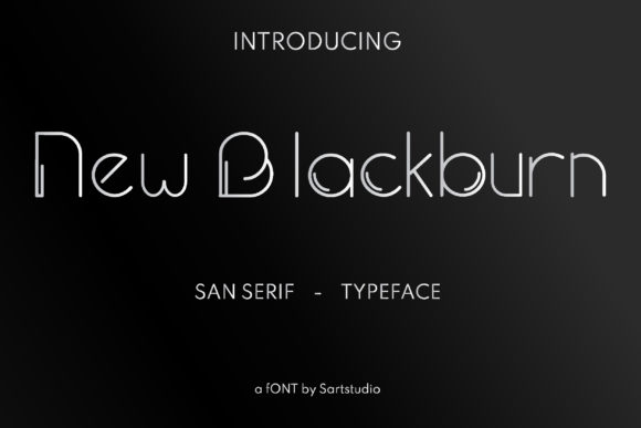 Print on Demand: New Blackburn Sans Serif Font By sartstudio