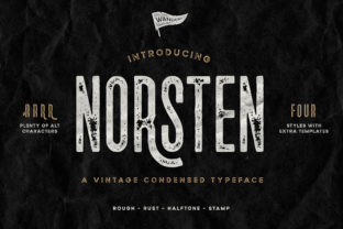 Print on Demand: Norsten Sans Serif Schriftarten von Wandery Supply