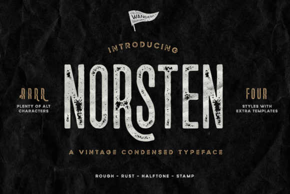 Print on Demand: Norsten Sans Serif Font By Wandery Supply