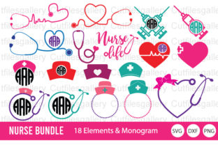 Download Free Nurse Bundle Stethoscope Graphic By Cutfilesgallery Creative for Cricut Explore, Silhouette and other cutting machines.