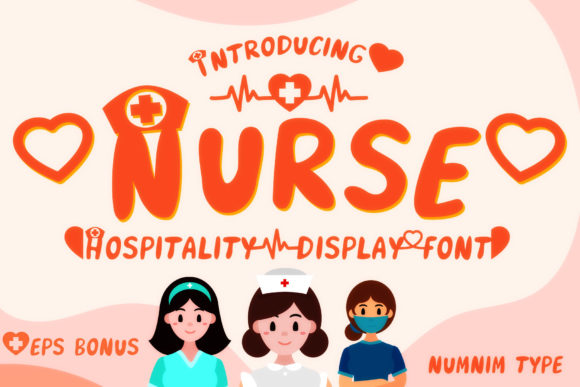 Print on Demand: Nurse Display Font By numnim