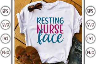 Print on Demand: Nurse Design, Resting Nurse Face Graphic Print Templates By GraphicsBooth