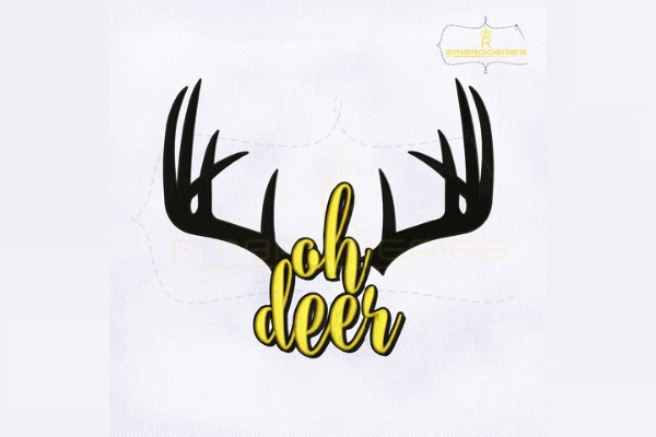 Download Free Ohh Deer Antler Creative Fabrica for Cricut Explore, Silhouette and other cutting machines.