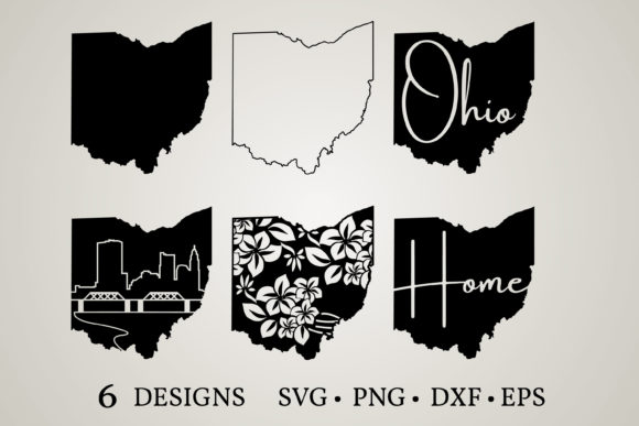 Ohio State Graphic Print Templates By Euphoria Design