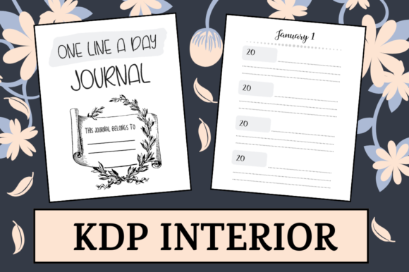 Print on Demand: One Line a Day Journal   KDP Interior Graphic KDP Interiors By KDP Mastermind