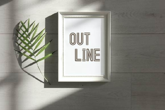 Print on Demand: Out Line Display Font By WAP