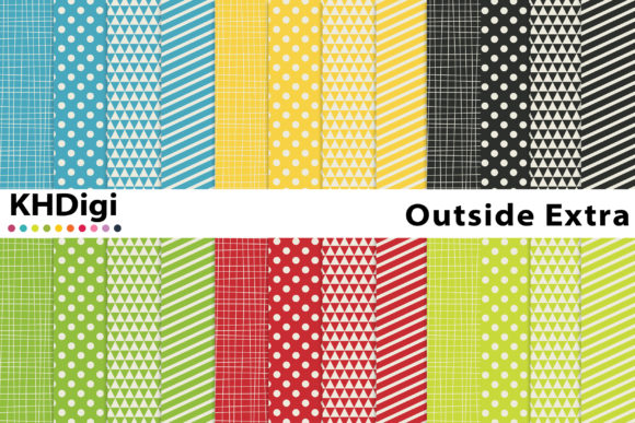 Print on Demand: Outside Extra Digital Paper Graphic Backgrounds By KHDigi