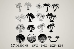 Palm Tree Bundle Graphic Crafts By Euphoria Design