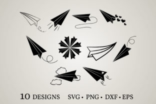 Paper Plane Graphic Crafts By Euphoria Design
