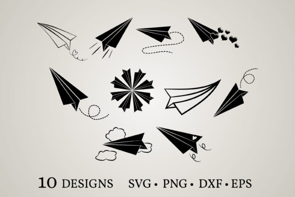 Paper Plane Graphic Print Templates By Euphoria Design
