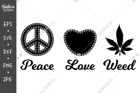 Download Free Peace And Love Graphic By Sashica Designs Creative Fabrica for Cricut Explore, Silhouette and other cutting machines.