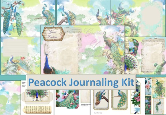 Print on Demand: Peacock Backgrounds and Ephemera Graphic Crafts By The Paper Princess