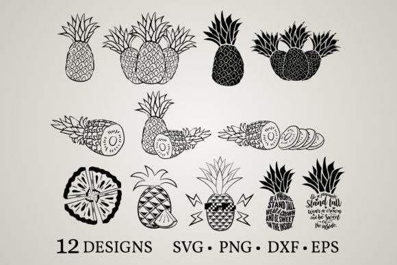 Download Free Pineapple Bundle Graphic By Euphoria Design Creative Fabrica for Cricut Explore, Silhouette and other cutting machines.