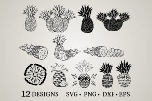 Pineapple Bundle Graphic Crafts By Euphoria Design