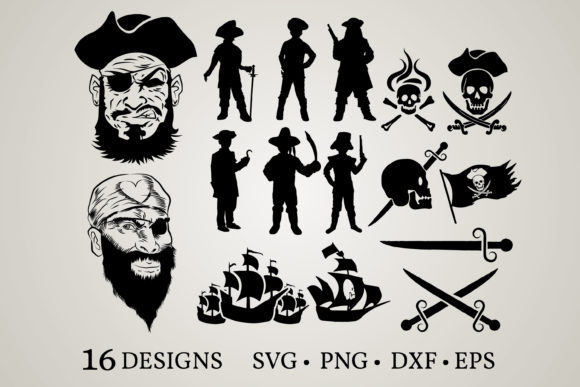 Pirate Bundle Graphic Print Templates By Euphoria Design