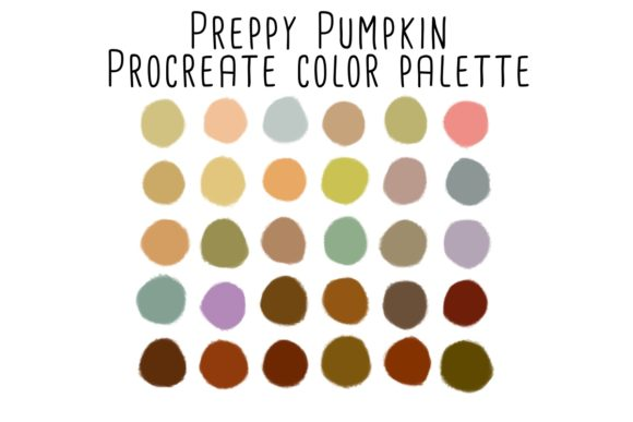 Print on Demand: Preppy Pumpkin Procreate Color Palette Graphic Add-ons By RoughDraftDesign