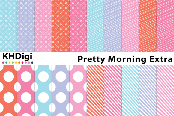 Print on Demand: Pretty Morning Extra - Digital Paper Graphic Backgrounds By KHDigi