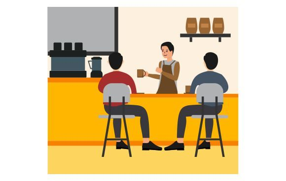 Professional Coworking Space Graphic Illustrations By Redvy Creative