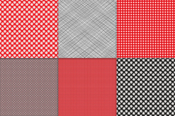 Download Free Red Black And White Digital Paper Graphic By Khdigi Creative for Cricut Explore, Silhouette and other cutting machines.