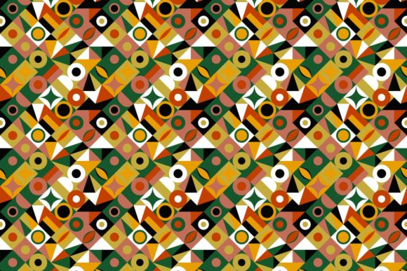 Repeating Mosaic Tile Pattern Graphic Patterns By davidzydd