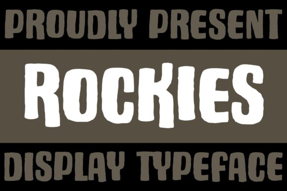 Print on Demand: Rockies Display Font By Subectype
