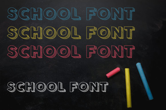 Download Free School Font By Owpictures Creative Fabrica for Cricut Explore, Silhouette and other cutting machines.