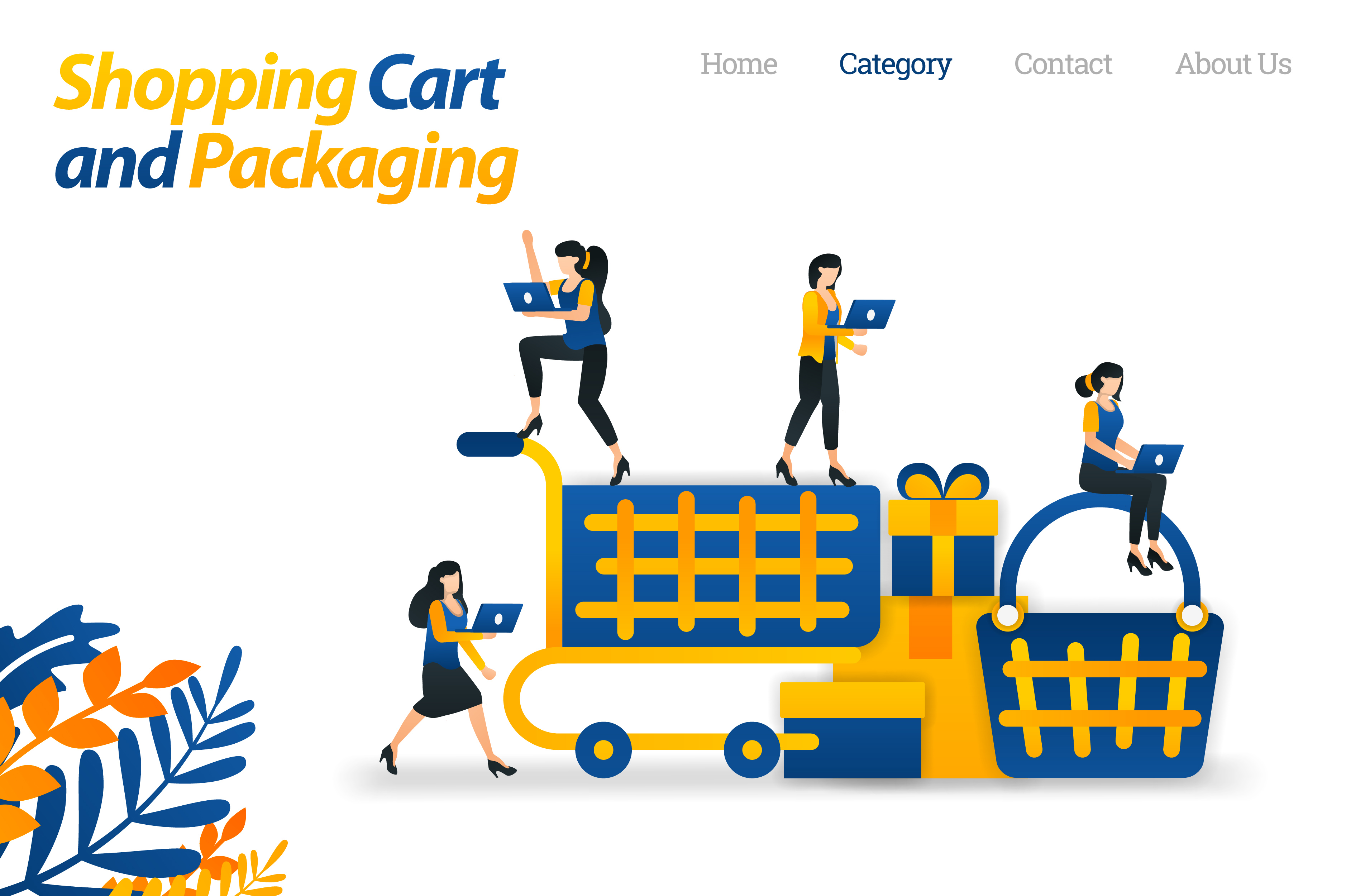 Download Free Shopping Cart Design For E Commerce Graphic By Setiawanarief111 for Cricut Explore, Silhouette and other cutting machines.