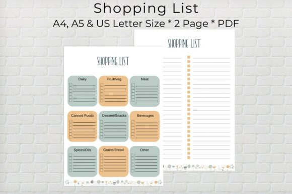 Shopping List Printable Graphic By The Little Crafty Shop
