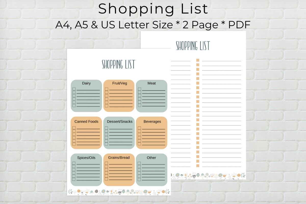 Download Free Shopping List Printable Graphic By The Little Crafty Shop for Cricut Explore, Silhouette and other cutting machines.