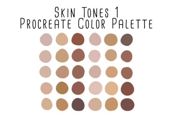 Print on Demand: Skin Tones 1 Procreate Color Palette Graphic Add-ons By RoughDraftDesign