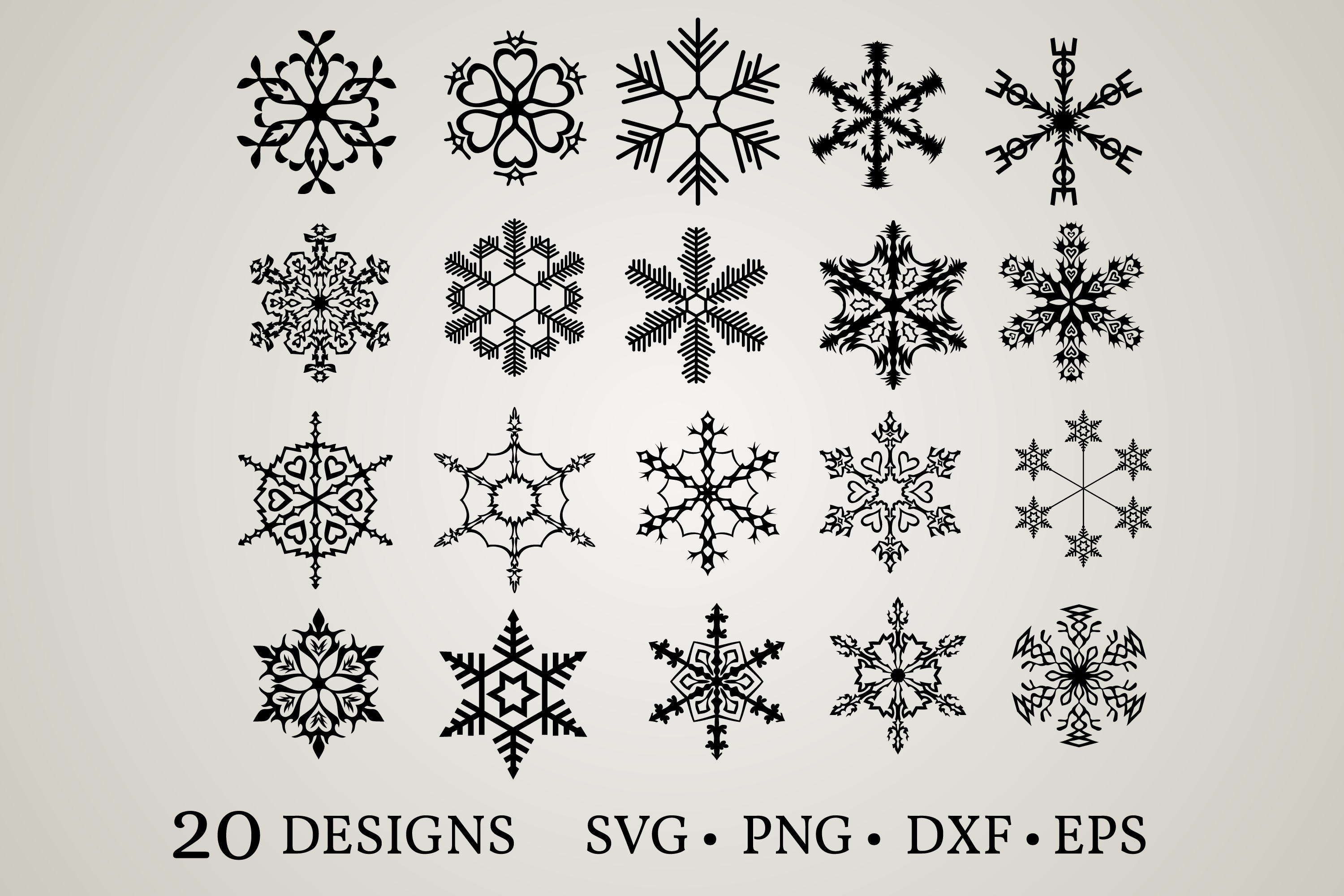 Download Free Snowflake Bundle Graphic By Euphoria Design Creative Fabrica for Cricut Explore, Silhouette and other cutting machines.