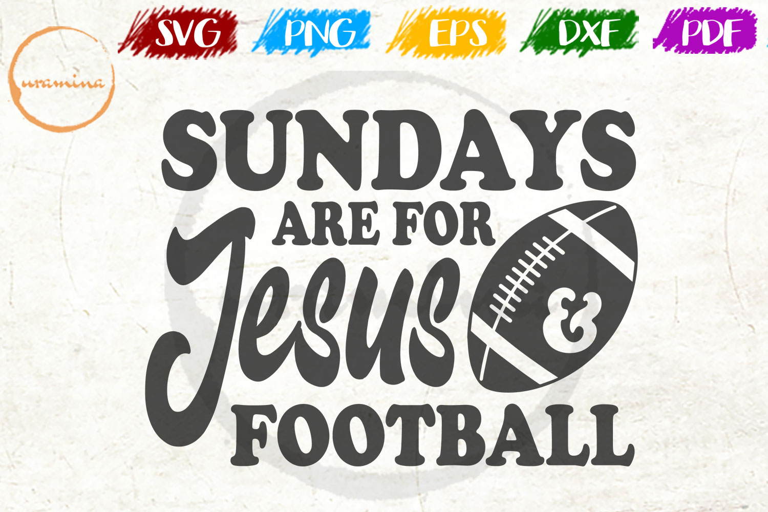Download Free Sundays Are For Jesus And Football Graphic By Uramina Creative for Cricut Explore, Silhouette and other cutting machines.