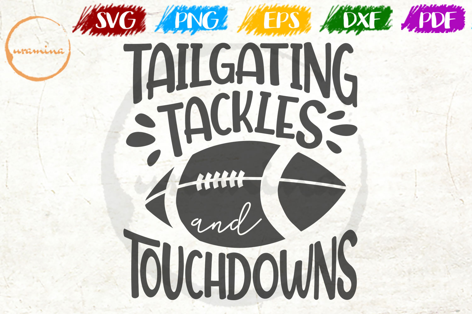 Download Free Tailgating Tackles And Touchdowns Graphic By Uramina Creative for Cricut Explore, Silhouette and other cutting machines.