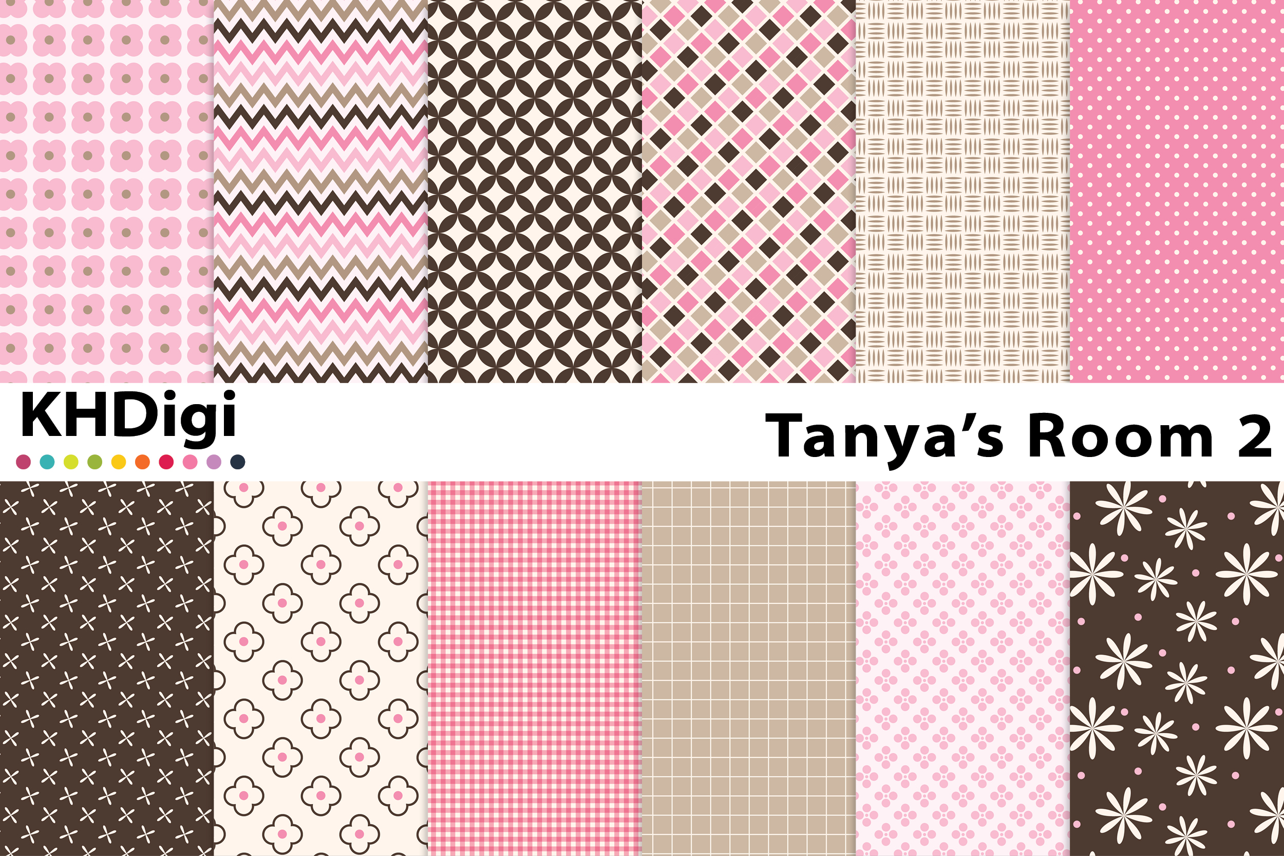 Download Free Tanya S Room 2 Digital Paper Graphic By Khdigi Creative Fabrica for Cricut Explore, Silhouette and other cutting machines.