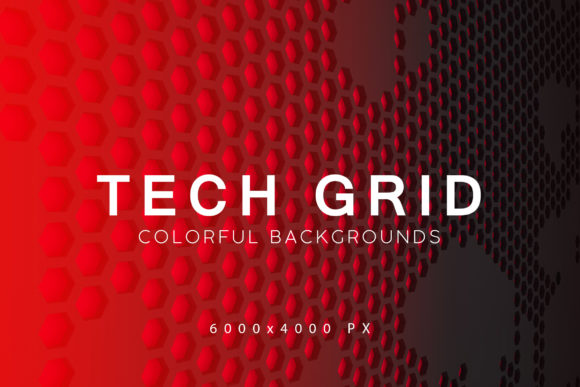 Print on Demand: Tech Grid Backgrounds Graphic Backgrounds By ArtistMef