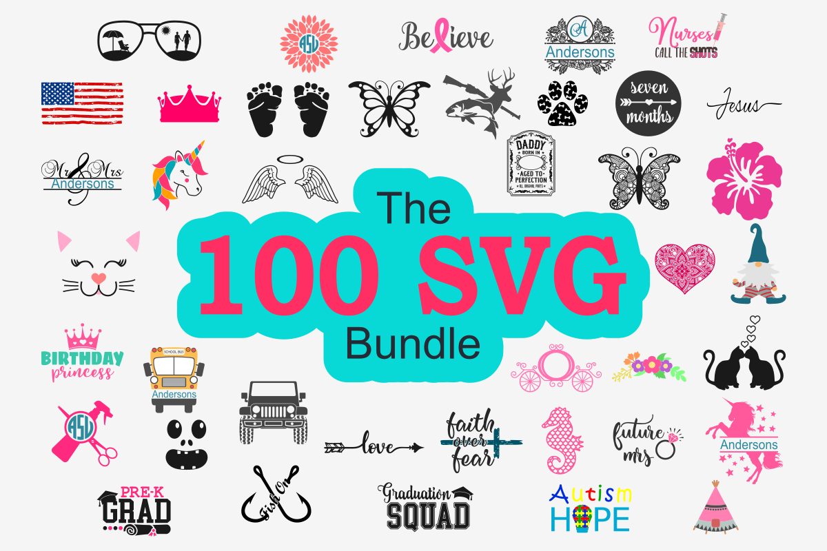 The 100 SVG Bundle Free Download