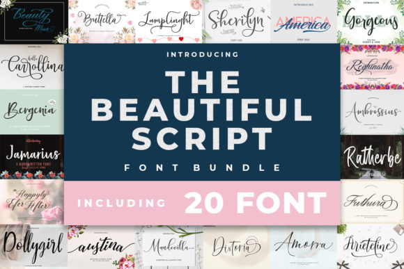 Print on Demand: The Beautiful Script Font Bundle  By Zane Studio