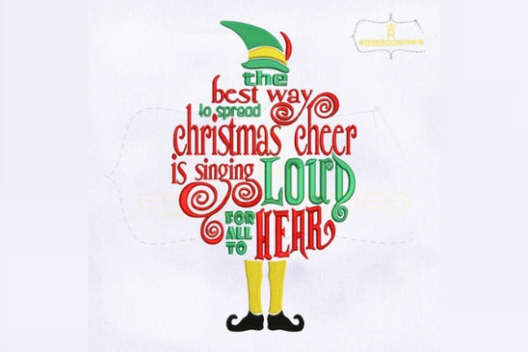 The Best Way to Spread Christmas Cheer Christmas Embroidery Design By RoyalEmbroideries - Image 1