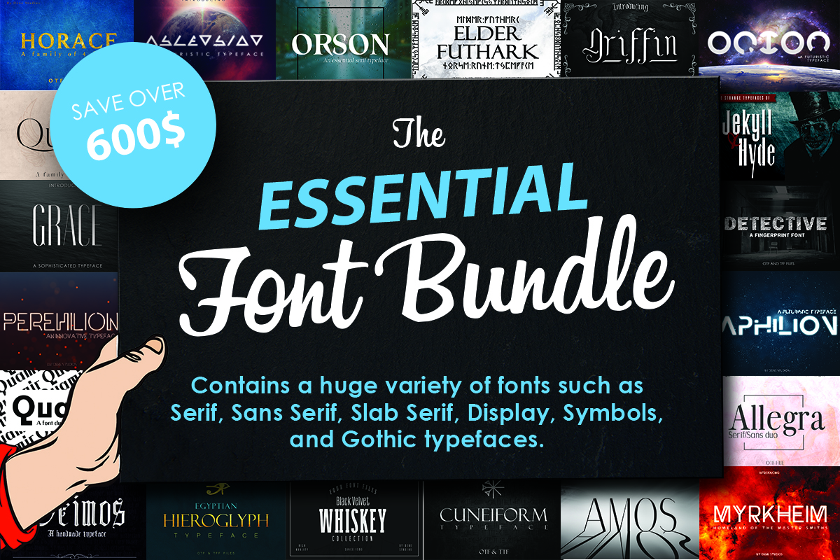 The Essential Font Bundle Free Download