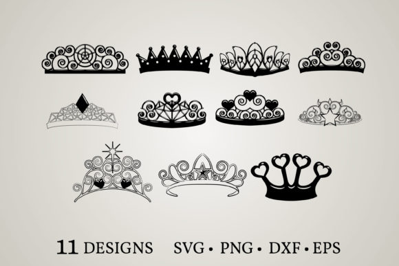 Tiara Clipart Graphic Print Templates By Euphoria Design