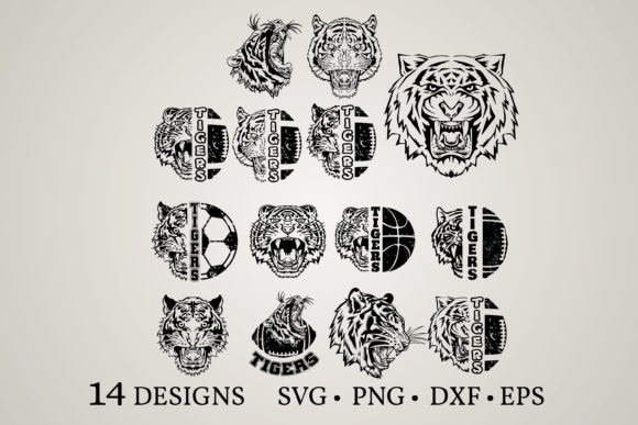 Download Free Tiger Bundle Graphic By Euphoria Design Creative Fabrica for Cricut Explore, Silhouette and other cutting machines.