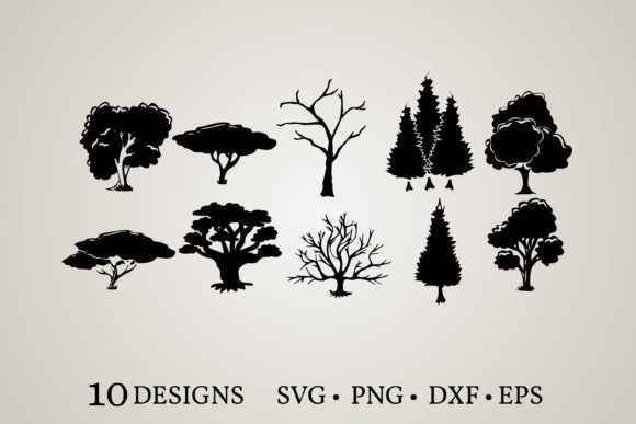 Download Free Tree Family Bundle Graphic By Euphoria Design Creative Fabrica for Cricut Explore, Silhouette and other cutting machines.