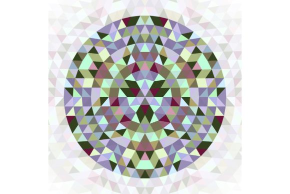 Triangle Mosaic Sacred Geometry Graphic Backgrounds By davidzydd