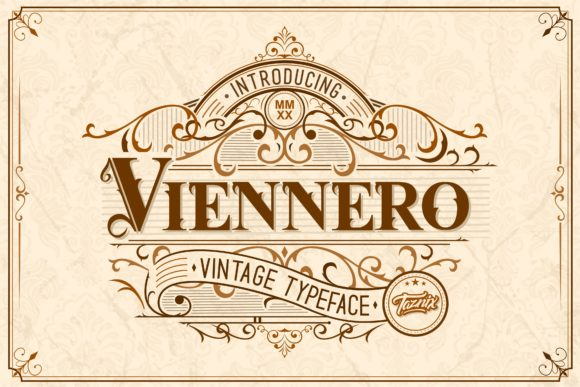 Print on Demand: Viennero Display Font By taznixart