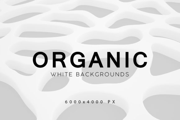 Print on Demand: White Organic Backgrounds 2 Graphic Backgrounds By ArtistMef