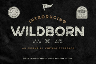 Print on Demand: Wildborn Sans Serif Schriftarten von Wandery Supply