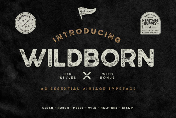 Print on Demand: Wildborn Sans Serif Fuente Por Wandery Supply