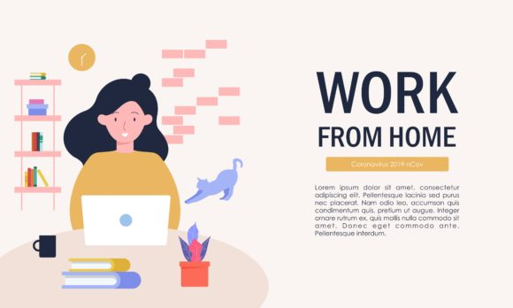 Download Free Work From Home Freelance Working At Home Graphic By Deemka Studio Creative Fabrica for Cricut Explore, Silhouette and other cutting machines.