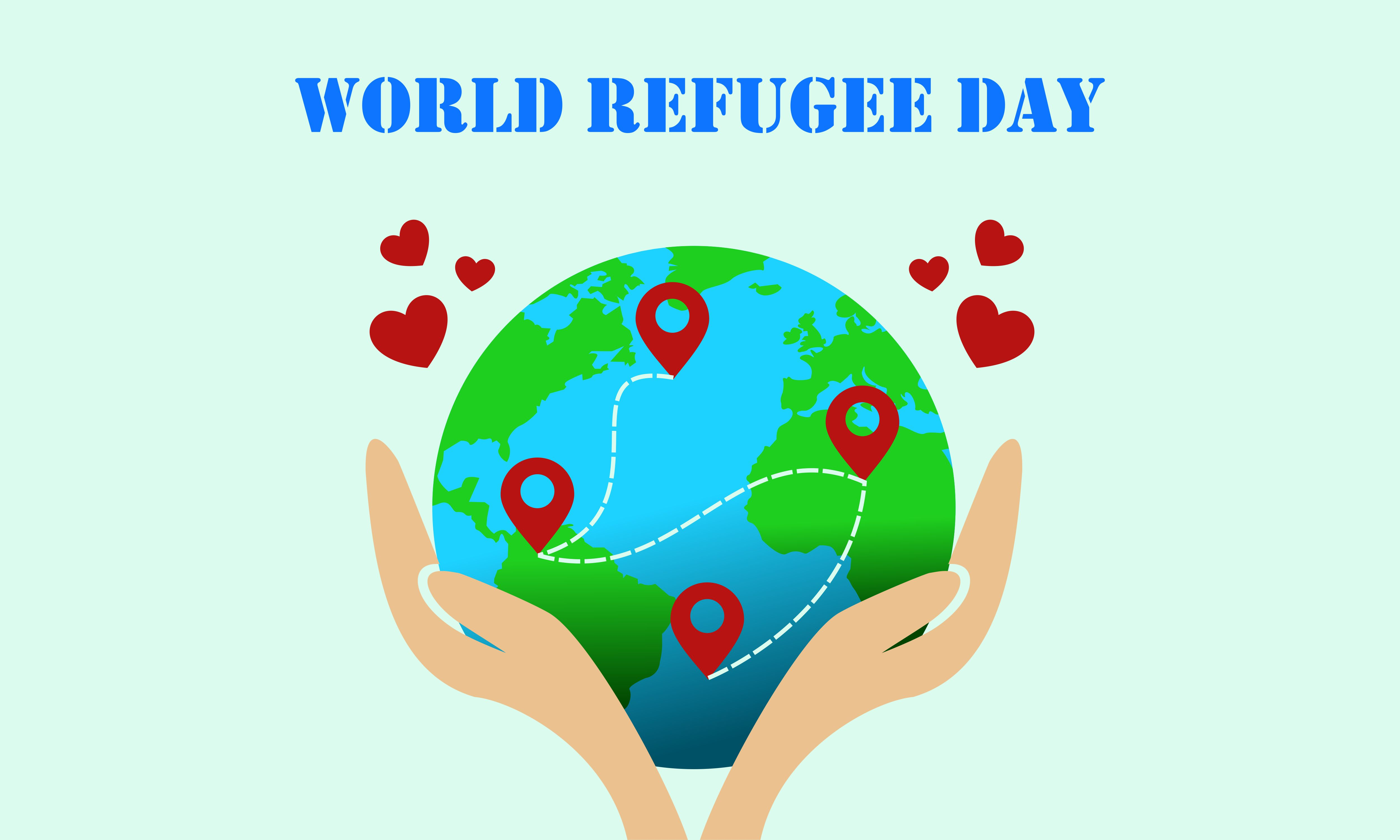 Download Free World Refugee Day 20 June Human Hands Graphic By 2qnah for Cricut Explore, Silhouette and other cutting machines.