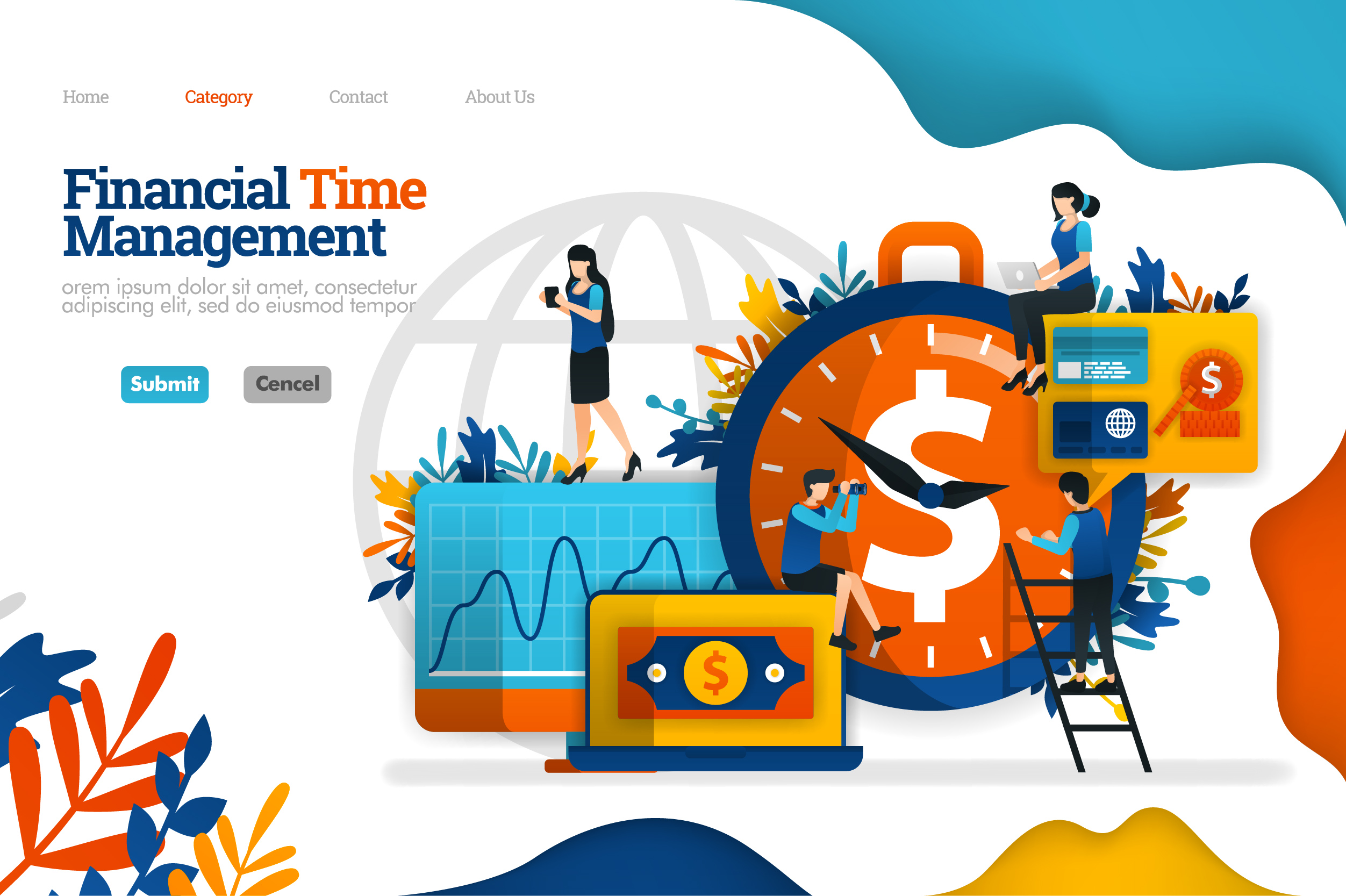 Banner Of Financial Time Management Graphic By Setiawanarief111 Creative Fabrica